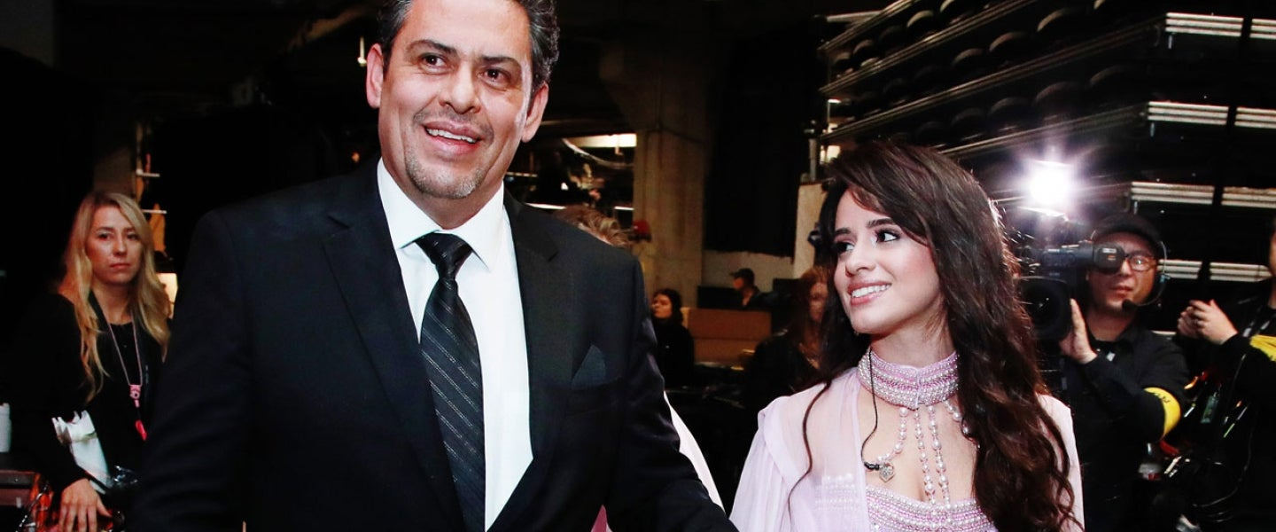 Camila Cabello with her dad at 2020 GRAMMYs