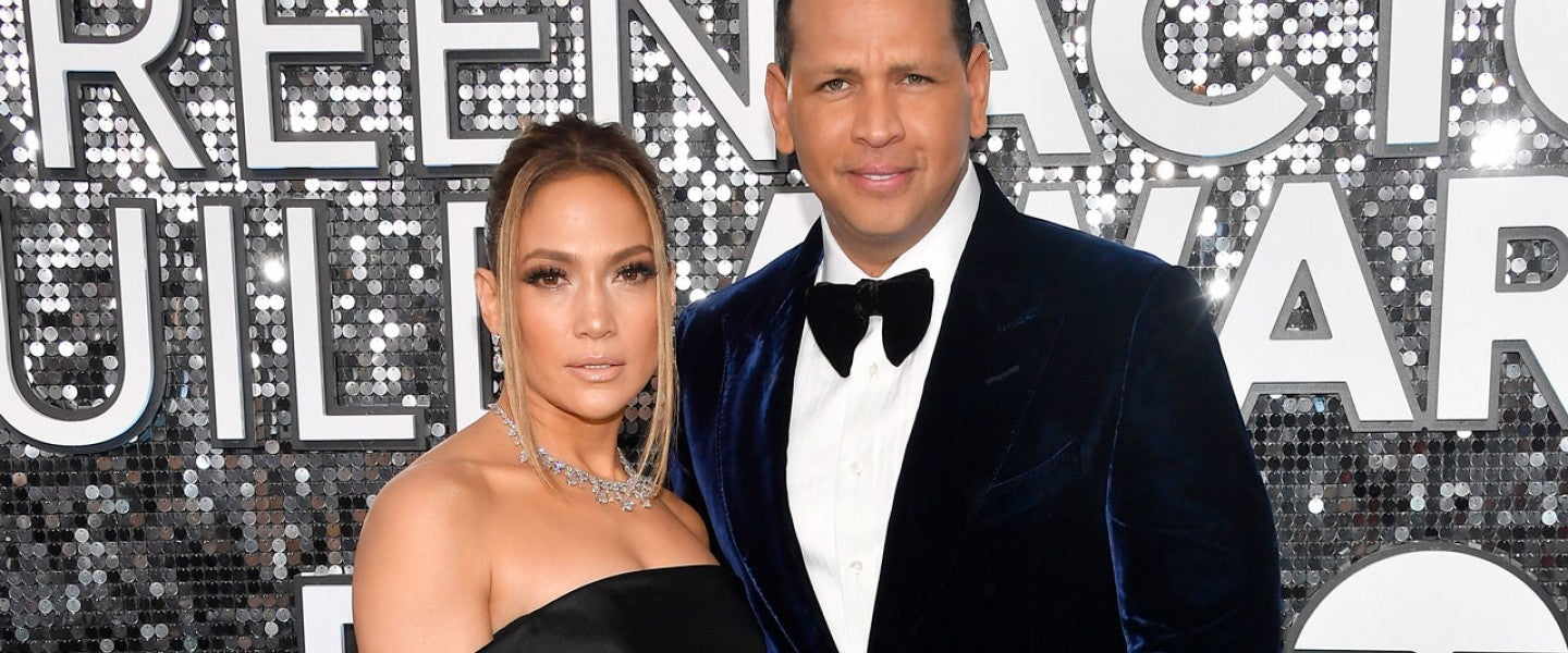 Jennifer Lopez and Alex Rodriguez at the 26th Annual Screen ActorsGuild Awards