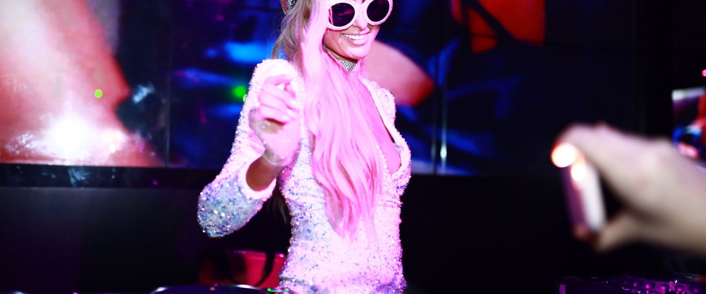 Paris Hilton djing super bowl weekend