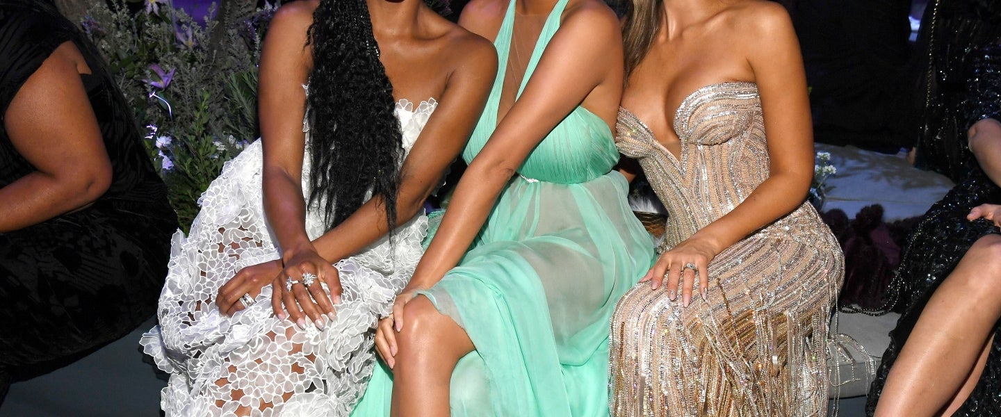Gabrielle Union, Chrissy Teigen and Jessica Alba at 2020 VF party - inside