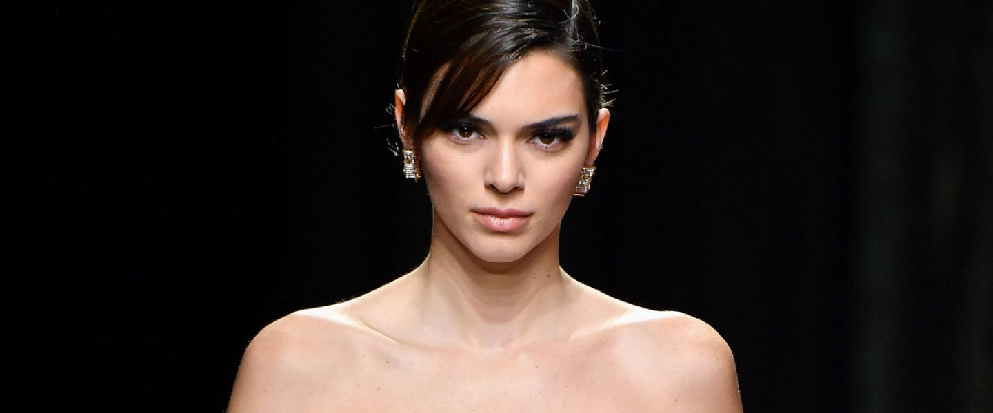 Kendall Jenner walks the runway during the Versace fashion show