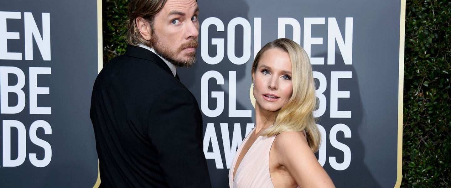 Dax Shepard and Kristen Bell at the 76th Annual Golden Globe Awards