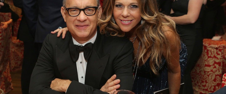 Tom Hanks and Rita Wilson at HBO's Post 2014 Golden Globe Awards Party