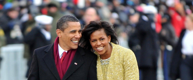 Barack Obama and michelle obama at inaugural parade 2009
