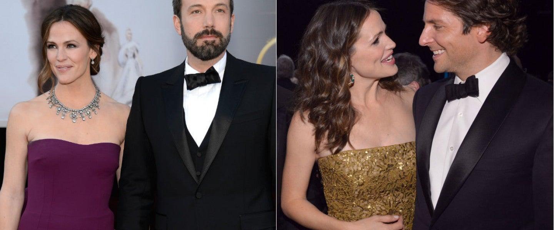 Jennifer Garner with Ben Affleck and Bradley Cooper