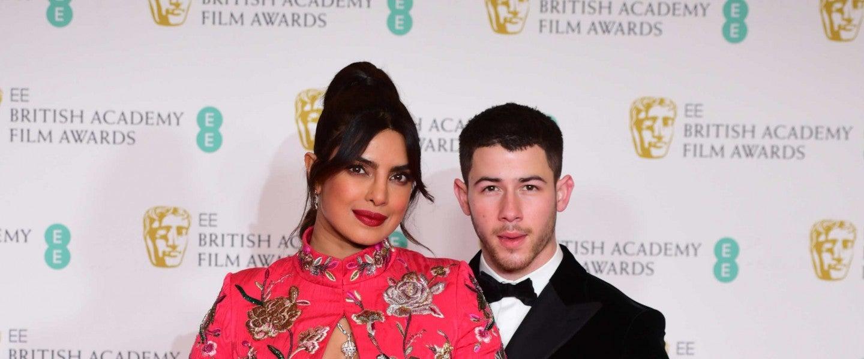 Priyanka Chopra Jonas and her husband Nick Jonas arrives for the EE BAFTA Film Awards at the Royal Albert Hall in London.