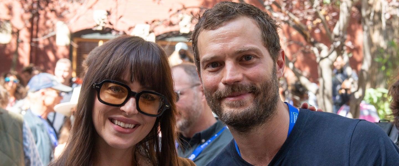 Dakota Johnson and Jamie Dornan at the Telluride Film Festival 2021