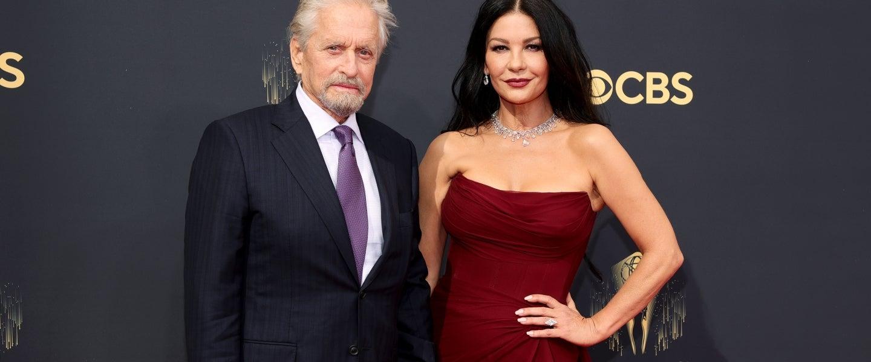 Michael Douglas and Catherine Zeta-Jones at 2021 emmys