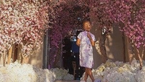 North West Steals The Show At Kim Kardashians Cherry Blossom Themed Baby Shower