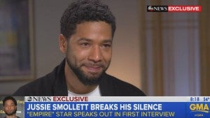 Jussie Smollett Tearfully Breaks His Silence on His Attack in First TV Interview