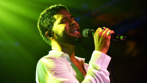 Jussie Smollett on stage and the Troubadour