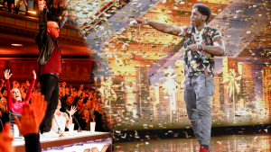America's Got Talent': Howie Mandel Jumps on Judges' Table to Give Inspiring Singer Golden Buzzer