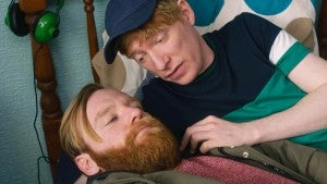Domhnall Gleeson Offers Brother Brian His Bed to Crash in on Amazon's 'Frank of Ireland' (Exclusive)
