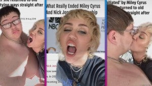 Miley Cyrus Mocks Dating Headlines With Mystery Makeout in Cheeky TikTok