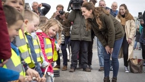 Kate Middleton Plays Along When Little Boy Asks If She's a Prince