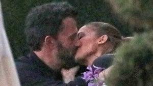 Ben Affleck and Jennifer Lopez Passionately Kiss During Dinner in Malibu