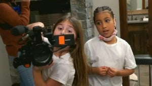Penelope Disick and North West Have Fun With Cameras to Pretend Film 'Keeping Up With the Kids'