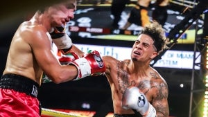 Bryce Hall Gets Knocked Out By Austin McBroom in 'Battle of the Platforms' Boxing Match
