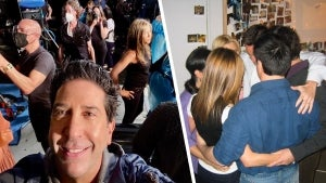David Schwimmer Shares Behind-the-Scenes Moments From the 'Friends' Reunion of the 'Cast Huddle'