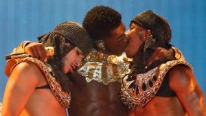 Lil Nas X Shares Steamy Kiss With Backup Dancer During 2021 BET Awards