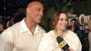 Dwayne Johnson and Emily Blunt Joke That They're Going to Have a WWE Face-off Against Each Other