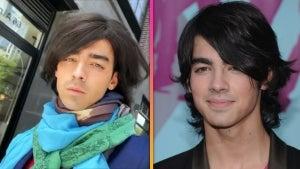 Joe Jonas Brings Back His 'Camp Rock' Flat-Ironed 'Do