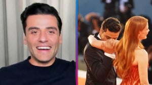 Oscar Isaac Reacts to Viral Jessica Chastain Arm-Smelling Moment at Venice Film Festival