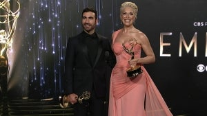 Emmys 2021: 'Ted Lasso's Brett Goldstein and Hannah Waddingham -- Full Backstage Interview