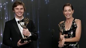 Emmys 2021: Evan Peters and Julianne Nicholson (Mare of Easttown) -- Full Backstage Interview