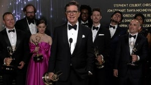 Emmys 2021: Stephen Colbert Full Backstage Interview
