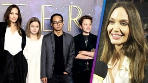 Angelina Jolie and Her Kids Stun at the 'Eternals' UK Premiere Carpet (Exclusive)