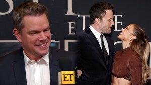 Matt Damon Says Ben Affleck Looks 'Really Happy' With Jennifer Lopez at 'Last Duel' Premiere (Exclusive)