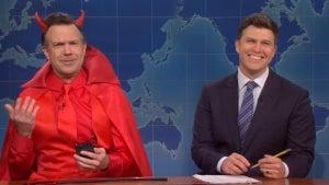 'Saturday Night Live': Jason Sudeikis' 'Devil' Mocks Colin Jost Marrying Scarlett Johansson