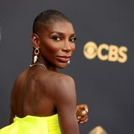 Michaela Coel attends the 73rd Primetime Emmy Awards at L.A. LIVE on September 19, 2021 in Los Angeles, California.