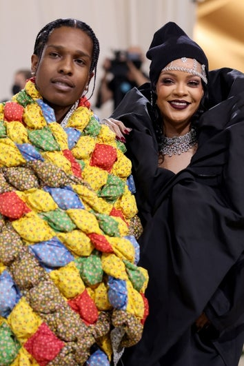 ASAP Rocky and Rihanna at The 2021 Met Gala