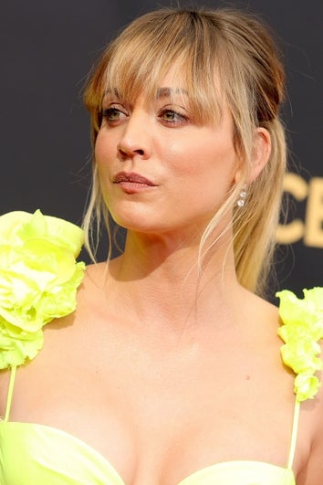 Kaley Cuoco at the 73rd Primetime Emmy Awards