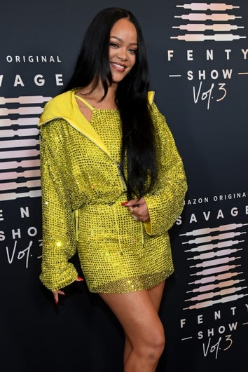 rihanna at savage x fenty show 2021