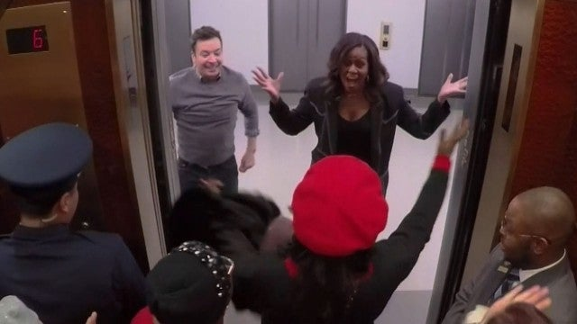 Watch Michelle Obama Surprise Fans With Her Dance Moves -- In an Elevator!