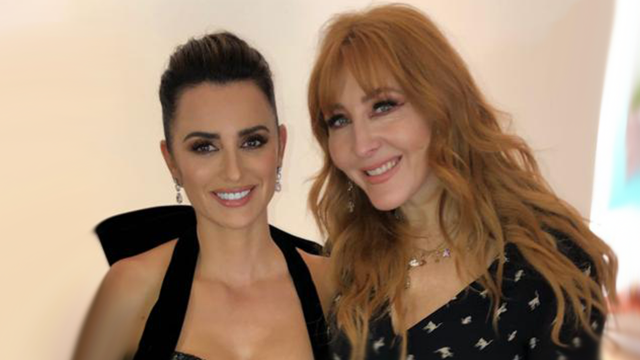 charlotte tilbury and penelope cruz at the golden globes