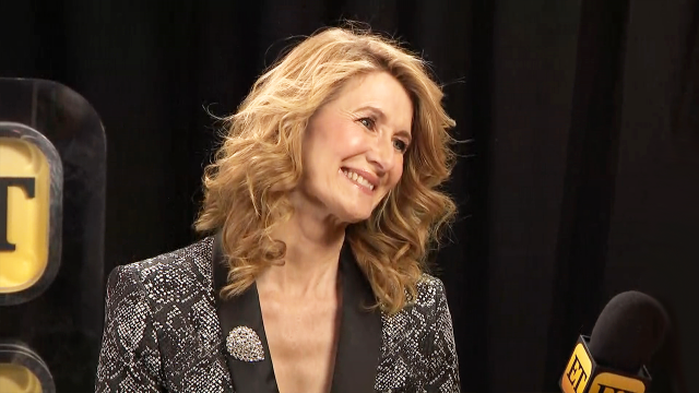 Laura Dern backstage at the 30th annual Palm Springs International Film Awards, sponsored by American Express