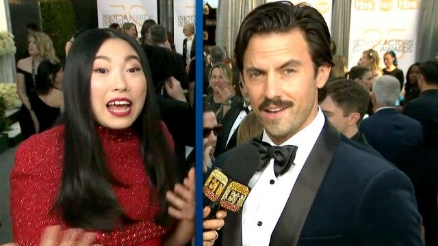 2019 SAG Awards: Watch Milo Ventimiglia, Awkwafina and More Celebs Play Question Train Game!