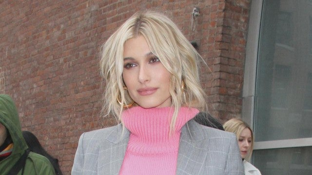 Hailey Bieber's Pink Sweater and Suit Combo Is Perfection!