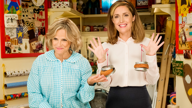 Rose Byrne and Amy Sedaris Craft With Donuts