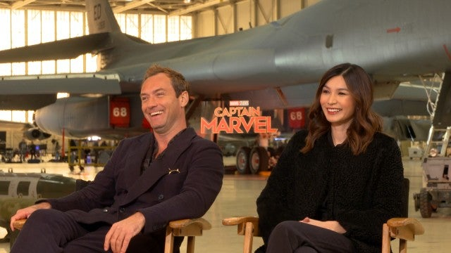'Captain Marvel': Jude Law and Gemma Chan (Full Interview)