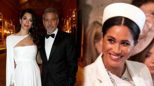 George and Amal Clooney and Meghan Markle