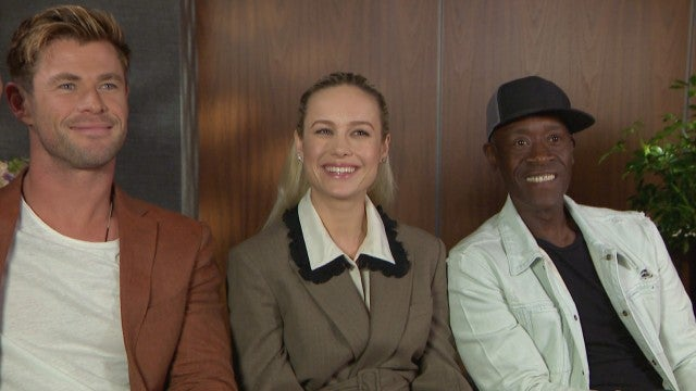 'Avengers: Endgame': Chris Hemsworth, Brie Larson & Don Cheadle Reveal What They Took From Set