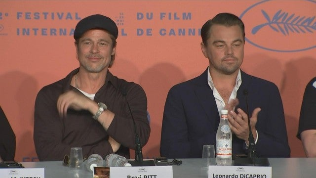 'Once Upon a Time in Hollywood' Stars Brad Pitt and Leo DiCaprio Are Old Friends at Cannes Photocall