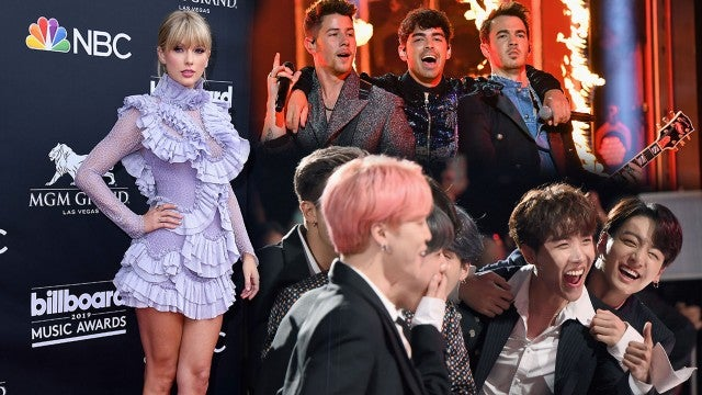 Taylor Swift, The Jonas Brothers and BTS.