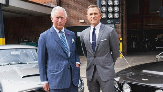 Daniel Craig Welcomes Prince Charles to 'Bond 25' Set