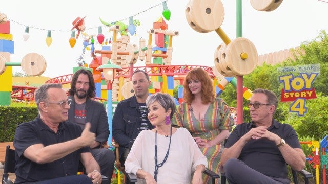 'Toy Story 4' Cast on Keanu Reeves and Forky! (Exclusive)